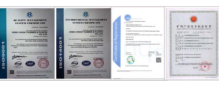 certification of chemical hose